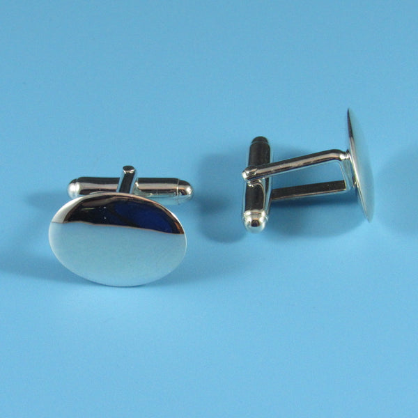 CL-28 - Oval Sterling Silver Cufflinks