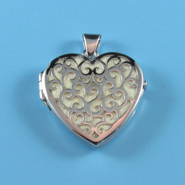 LKT07 - Engraveable Large Cut Out Heart Locket