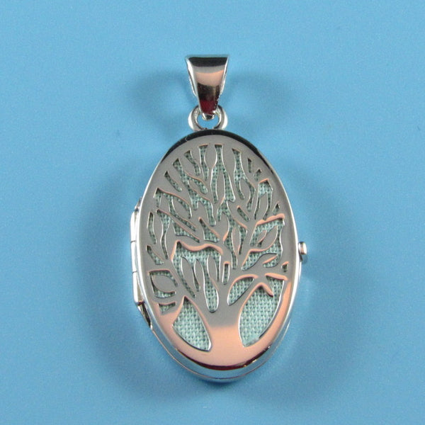LKT08 - Oval Tree of Life with Light Green Backing Locket