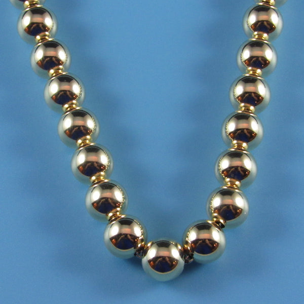 14kt Gold Uniform Beaded Necklace-Comes in all size beads