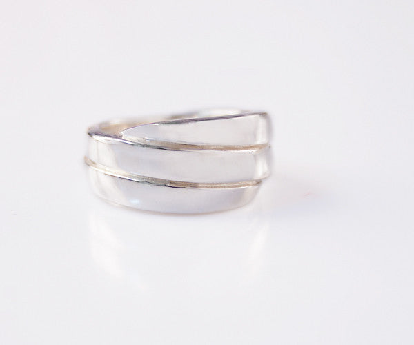 R11 - Sterling Ring 3 Wrap Point