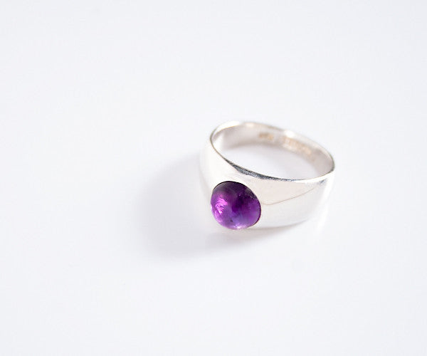 R18 - Sterling Ring with Amethyst