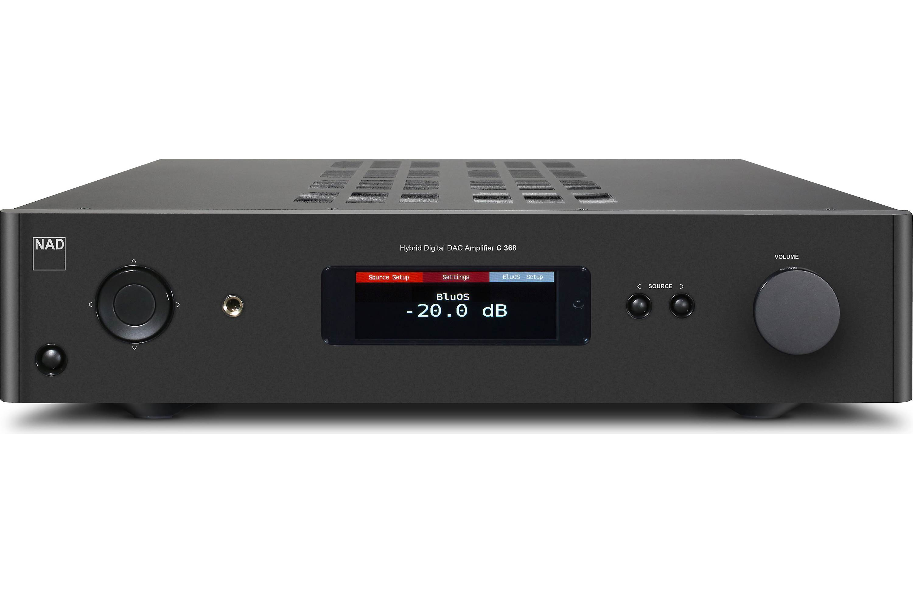 NAD C 368 BluOS-2i Stereo integrated amplifier with built-in BluOS™ streaming, Apple AirPlay® 2, and Bluetooth®