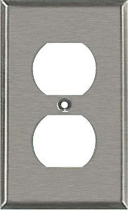 Outlet Wall Plate - Stainless Steel - Single