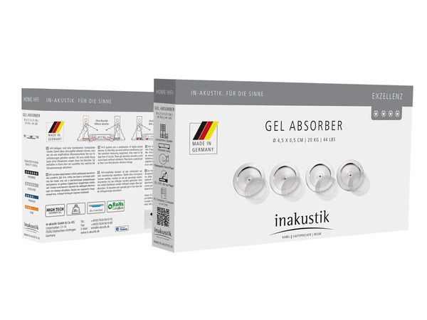 In-Akustik Excellence High Tech Gel Absorbers Isolation Discs - Set of 4
