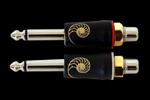 "CARDAS GRQ SM-FRCA MALE 1/4"" MONO TO FEMALE RCA ADAPTER"