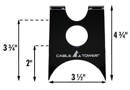 Cable Tower V2 Audio/Video Cable Support - SPECIAL OFFER - Kit of (6)