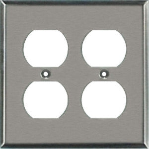 Outlet Wall Plate - Stainless Steel - Dual