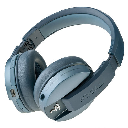 Focal Listen Wireless Bluetooth Headphones with Microphone for Smartphones - CHIC BLUE