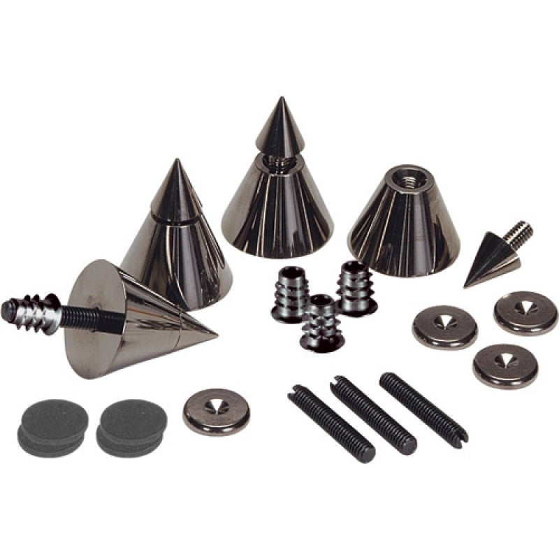 Black Chrome Speaker Spike Set - 4 Pcs