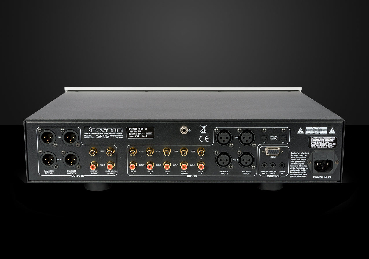 Bryston Bp 17 Stereo Preamplifier Dedicated Audio Balanced Microphone