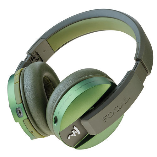 Focal Listen Wireless Bluetooth Headphones with Microphone for Smartphones - CHIC GREEN