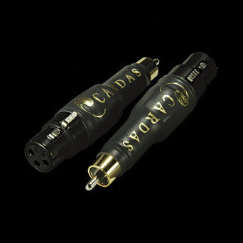 Cardas XLR Adapters - Female XLR to Male RCA - PAIR