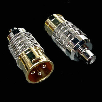Cardas Gold Premium CGA Male XLR Adapters - XLR Male to RCA Female - PAIR
