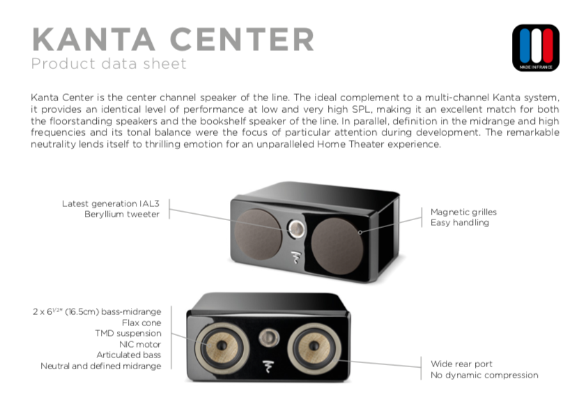 Focal Kanto Center Channel