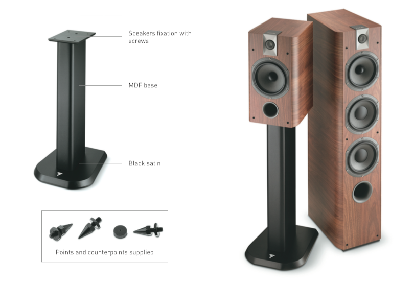 Focal Chorus S700 Speaker Stands PAIR Dedicated Audio