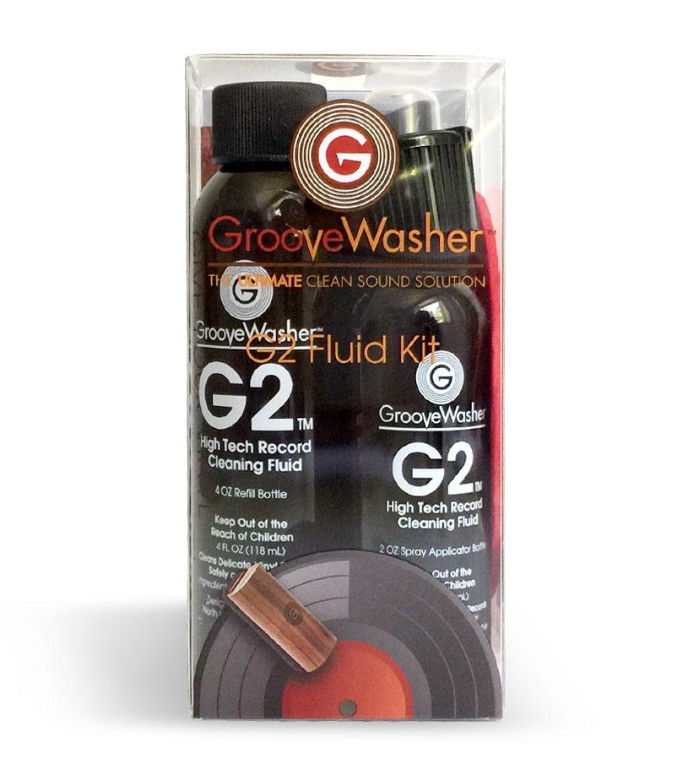 GrooveWasher G2 Record Cleaning Fluid Kit - 2 oz Mist Spray and 4 oz Refill