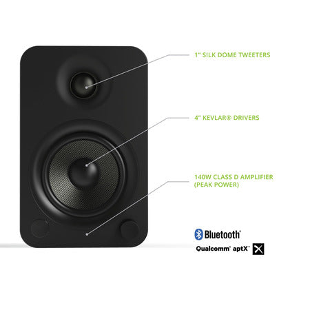 Kanto YU4 Powered Bookshelf Speakers  -- OTHER COLOR OPTIONS AVAILABLE