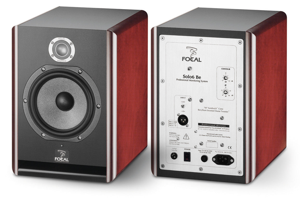"Focal Solo6 Be 6.5"" Active 2-Way Nearfield Studio Monitor - RED - PAIR"