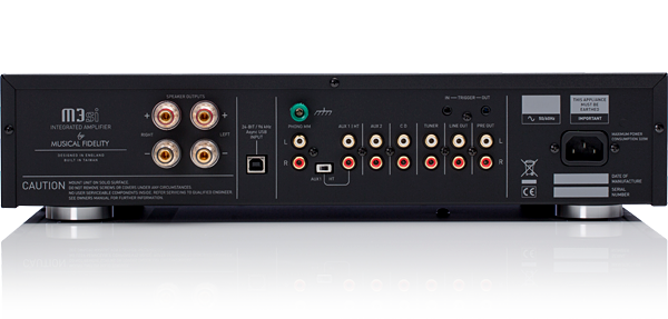 Musical Fidelity M3si Integrated Amplifier with Asynchronous USB DAC and MM Phono Stage - BLACK