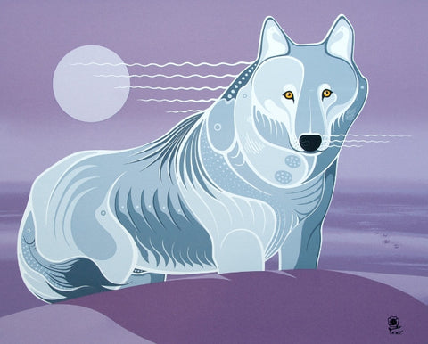 Lone Grey Wolf Limited Edition Print