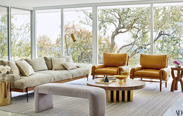 Demi Moore's wrinkled cushions in Architectural Digest
