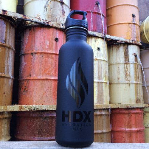 "HDX ""ALL BLACK"" Limited Edition Reusable Bottle - HDX Hydration Mix 