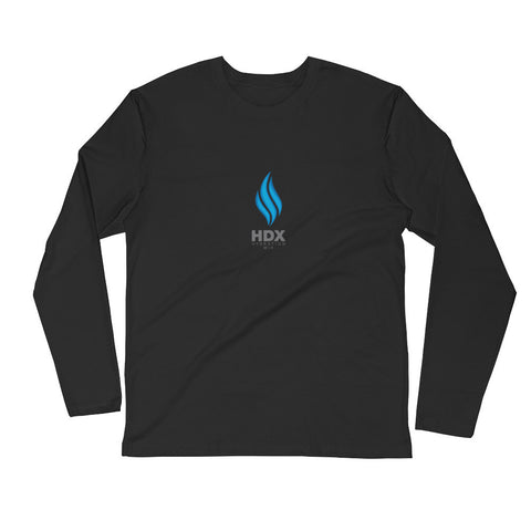 HDX Mens Long Sleeve Fitted Crew Tee - HDX Hydration Mix | HDXmix.com