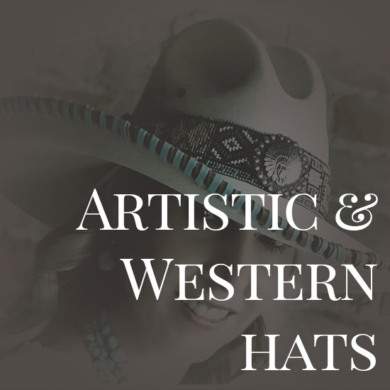 artistic and western hats
