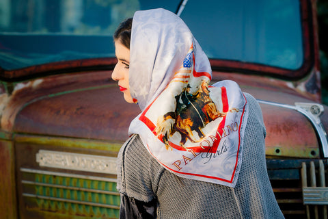 "Rockmount ""Palomino Girls"" Silk Scarf - Tailored West Fashion Boutique"