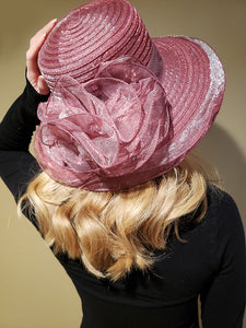 Pink Hat With Large Pink Bow