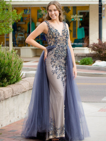 Exclusive Beaded Formal Gown - Size 4