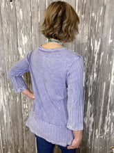 Load image into Gallery viewer, Cat On A Bike Printed Long Sleeve Tunic - Lavender