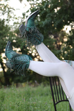 Load image into Gallery viewer, Corral LD Turquoise Fringes & Studs Ankle Boot R Toe Z0074