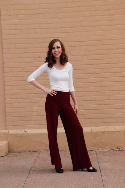 TW Totally Wow Pant - Solid Merlot