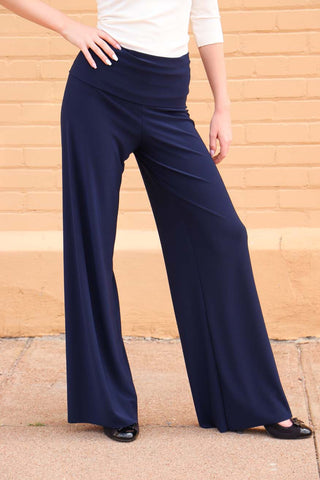 TW Totally Wow Palazzo Pant- Solid Navy