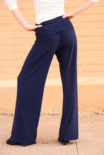 Load image into Gallery viewer, Palazzo Pant- Solid Navy