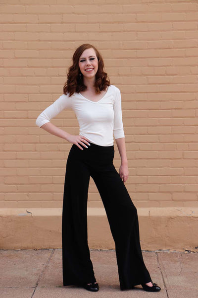TW Totally Wow Palazzo Pant - Solid Black