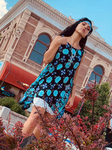 Tanya Dress - Boho Turquoise