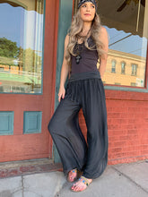 Load image into Gallery viewer, Silk Slit Pants - Charcoal