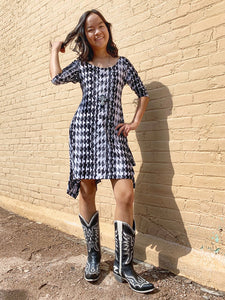 Neenya Dress - Houndstooth