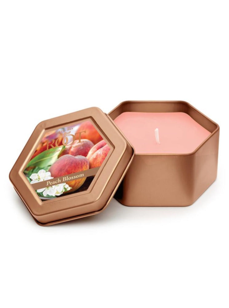 Honeycomb Traveler Candle Tin - Peach Blossom