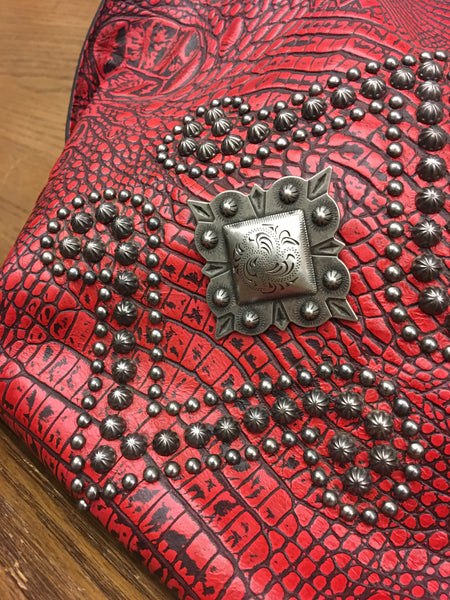 Red Studded Purse