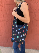 Load image into Gallery viewer, Robin Reversible Repurposed Fabric Bag - Button/Floral