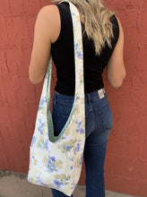 Load image into Gallery viewer, Robin Reversible Repurposed Fabric Bag - Floral/Ivy