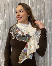 Load image into Gallery viewer, Cascade Versatile Scarf- Summer Garden