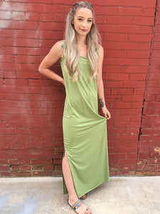 Maxine Maxi Dress Slip - Matcha