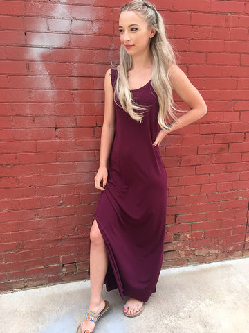 Maxine Maxi Dress Slip - Port Wine