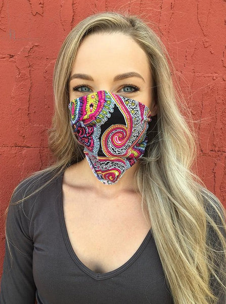 American Made Masks™ Fabric Mask - Retro Paisley
