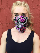Load image into Gallery viewer, American Made Masks™ Fabric Mask - Neon Jungle